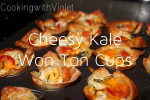 made in a mini muffin tin with won ton wrappers